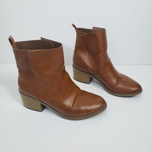 Mossimo Ankle High Brown Heeled Boot Sz 8.5